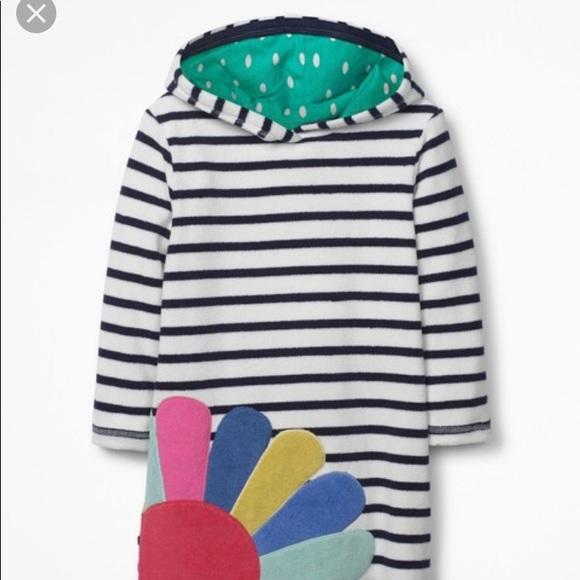 3328f8901e2 NWT Mini Boden stripe toweling dress